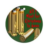 Christmas Ammo Wish Ornament (Round)