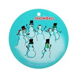 Snow Ball Ornament (Round)
