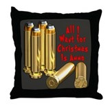 Christmas Ammo Wish Throw Pillow