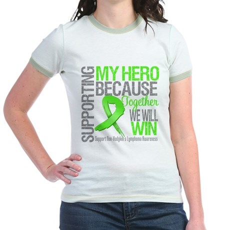 Hero NonHodgkinsLymphoma Jr. Ringer T-Shirt