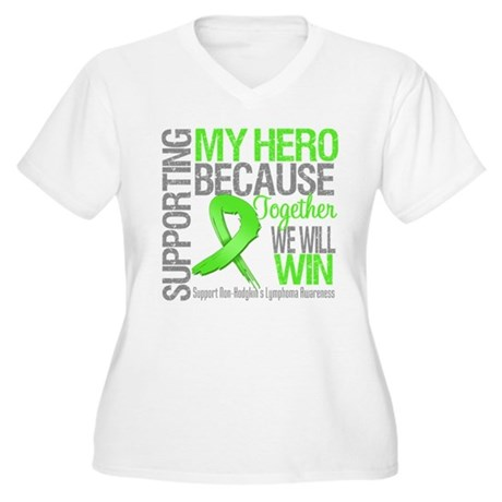 Hero NonHodgkinsLymphoma Women's Plus Size V-Neck