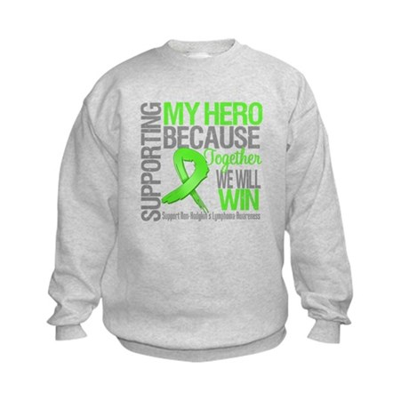 Hero NonHodgkinsLymphoma Kids Sweatshirt