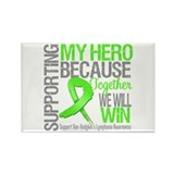 Hero NonHodgkinsLymphoma Rectangle Magnet