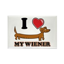 I love my Wiener Rectangle Magnet (100 pack)