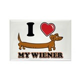 I love my Wiener Rectangle Magnet (10 pack)