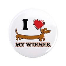"I love my Wiener 3.5"" Button (100 pack)"