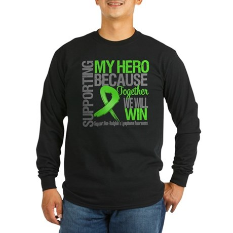 Hero NonHodgkins Lymphoma Long Sleeve Dark T-Shirt