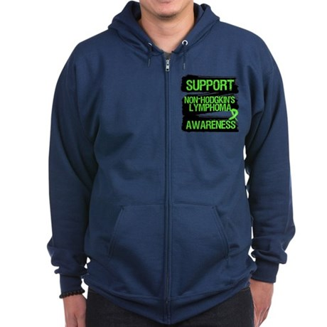 Support Non-Hodgkin's Zip Hoodie (dark)