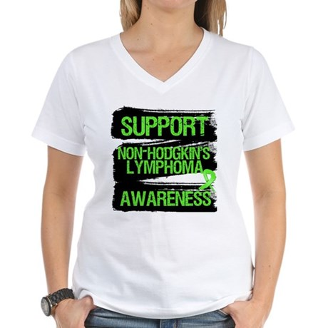 Support Non-Hodgkin's Women's V-Neck T-Shirt