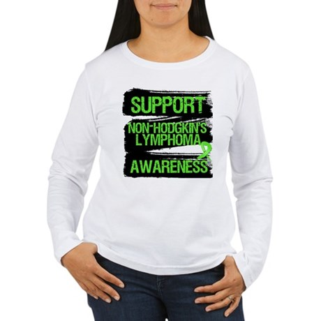 Support Non-Hodgkin's Women's Long Sleeve T-Shirt