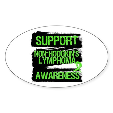 Support Non-Hodgkin's Oval Sticker (50 pk)