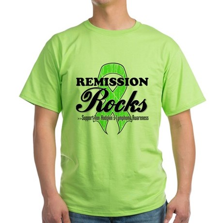 NonHodgkins RemissionRocks Green T-Shirt