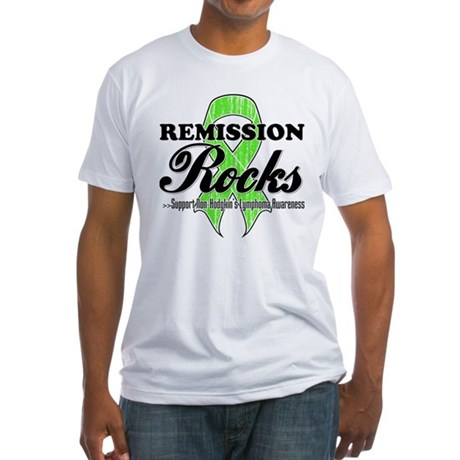 NonHodgkins RemissionRocks Fitted T-Shirt