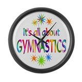 Gymnastics Large Wall Clock