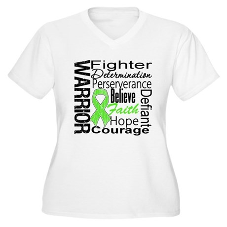 Non-Hodgkins Warrior Women's Plus Size V-Neck T-Sh