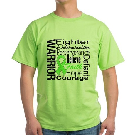 Non-Hodgkins Warrior Green T-Shirt