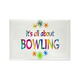 Bowling Rectangle Magnet (10 pack)