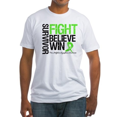 NonHodgkinsFightWin Fitted T-Shirt
