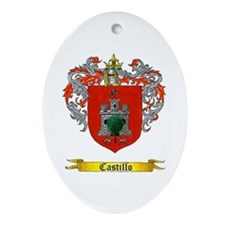 Castillo Family crest Oval Ornament