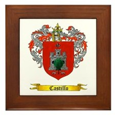 Castillo Family crest Framed Tile