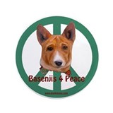 "Basenjis 4 Peace 3.5"" Button"