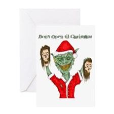 Don't Open Til Christmas Greeting Card