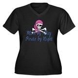 Mom Pirate Women's Plus Size V-Neck Dark T-Shirt