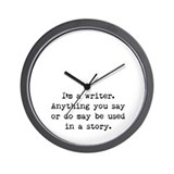 Writer's Miranda Wall Clock