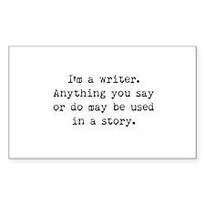 Writer's Miranda Rectangle Sticker 10 pk)