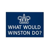 Cute Winston churchill Rectangle Magnet