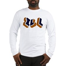Orange, Blue, and White Box I Long Sleeve T-Shirt
