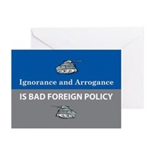 Ignorance and Arrogance Greeting Cards (Package of