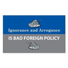 Ignorance and Arrogance Rectangle Decal