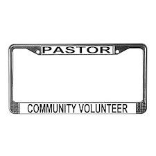Unique Pastors License Plate Frame