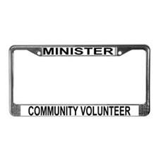 Cute Minister License Plate Frame