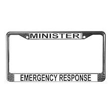 Minister License Plate Frame