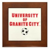 U of GC Soccer Ball Framed Tile