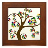 Cute Autism Framed Tile
