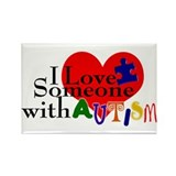 Unique Autism Rectangle Magnet