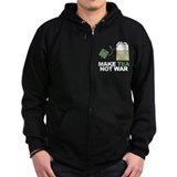 Make Tea Not War Zip Hoodie