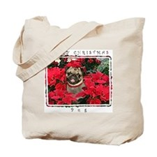 Pug Christmas Tote Bag