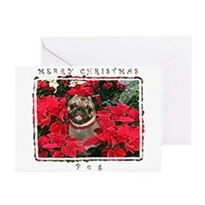 Pug Christmas Greeting Cards (Pk of 10)