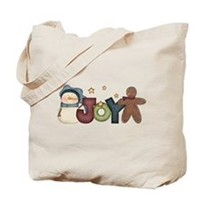 Joyous Snowman & Gingerbread Tote Bag