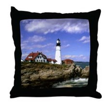Maine Lighthouse Throw Pillow