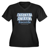 Mystery Street Records Women's Plus Size V-Neck Da