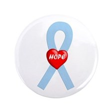 "Lt. Blue Hope 3.5"" Button (100 pack)"