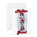 roller grrl Greeting Card
