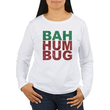 Bah Humbug Womens Long Sleeve T-Shirt