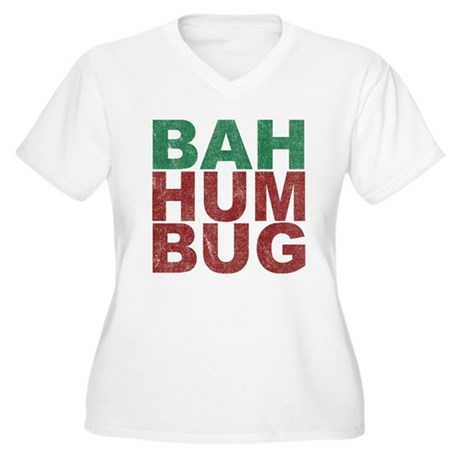 Bah Humbug Plus Size V-Neck Shirt