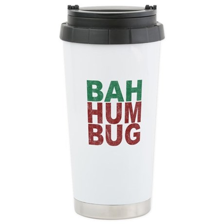 Bah Humbug Ceramic Travel Mug